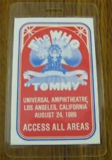 "GENUINE The Who ""TOMMY"" Laminated ACCESS ALL AREAS Backstage Pass Universal Amph"
