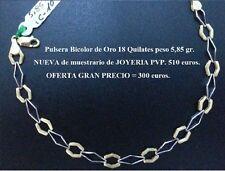 GRAN INVERSION - OCASION Pulsera NUEVA de Oro BICOLOR de 18 ktes. Peso 5,85 gr.