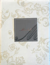 Mirabello Italy Cotton Tablecloth Scroll Sand White 63 x 90 - NEW