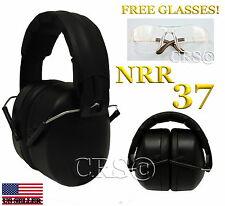 37 NRR SHOOTING FIRING GUN RANGE NOISE REDUCTION EARMUFF HEARING EYE PROTECTION