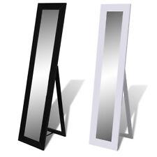 vidaXL Espejo de Pie de Colores Blanco/Negro Tocador Modelo Decorativo