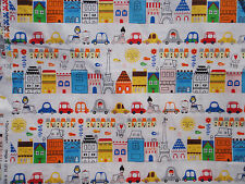 OUI OUI PARIS, Suzy Ultman for Robert Kaufman, Multicolor Paris Street Scene BTY