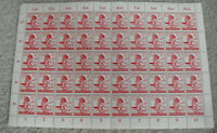 Vintage Sheet of 50 Stamps 1923 Grossdeutsches Reich 12+8 Germany #2