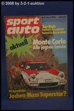 Sport Auto 2/75 BMW CS 280 SL Abarth 124 Rally + Poster