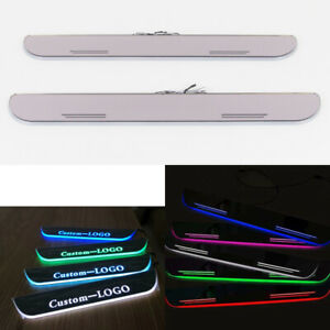 Customized LED Animation Door Sill Scuff Plate Dynamic Courtesy Light For Subaru