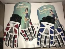 Two (2) Womens DeBeer Lacrosse Tempest Gloves New S-Small Red & Blue