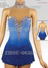 Competition Skating Wear Quick Dry Anatomic Design Classic blue dyeing