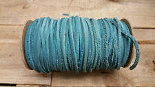 cow hide 1/8 wide 100' long/turquoise color/ Sale !