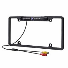 Car Backup Camera Cmos 8 Ir Led Night Vision Rear View Alloy License Plate Frame