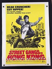 Original 1974 STREET GANGS of HONG KONG 30 x 40 Theatre Movie Poster KUNG FU