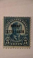 Sc# 648 MNH OG 1928 5c HAWAII OVERPRINT ISSUE  CV$21.50   492A8