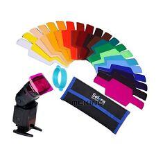 Selens SE-CG20 Color Gels Filter Work for Canon/Nikon/Yongnuo Flash speedlite