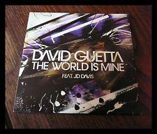 David Guetta feat. JD Davis/The World Is Mine/Rare Cd Single Promo
