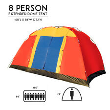 8 Person Portable Family Large Tent for Traveling Camping Hiking &red