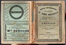 ENGRAIS PETITE ENCYCLOPEDIE DE CHIMIE INDUSTRIELLE F. BILLON 1899 AGRICULTURE