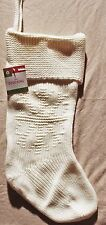 Cream Snowflake Knit Christmas Stocking Holiday Decorations Adult Classic New