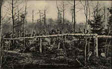 Feldpost-AK 1.WK Feldpostkarte Westfront Soldaten Wald-Friedhof im Argonnenwald