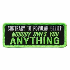 Contrary To Popular Belief 4 INCH IRON ON PATCH (GS1)