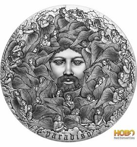 PARADISO The Divine Comedy 5 Oz Silver Coin 5000 Francs Cameroon 2021