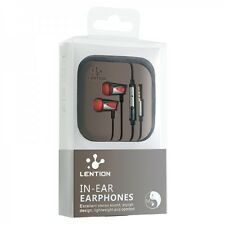 Lention In Ear Earphones With Remote and Mic Red Color Packing