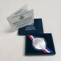(1) 1991 D Korean War Memorial $1 Commemorative MS/UNC Silver Dollar w/ COA &Box