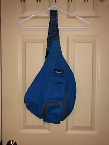 Kavu Bright Blue rope sling bag, Great Condition, Smoke Free Home, Lightly Used