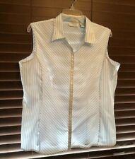 Women's Envision Avenue Blue/White Button Up Top.  Size XL.  PRETTY!