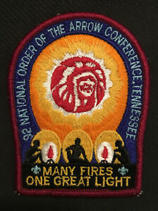 Boy Scout Patch NOAC 1992 Order Of The Arrow Many Fires One Great Light Badge
