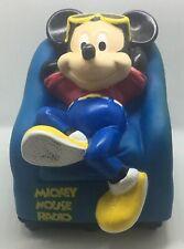 Vintage WALT DISNEY COMPANY Mickey Mouse w/ Sunglasses in Chair AM Radio - Works