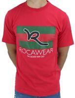 Rocawear, Men's Designer T-Shirts, New Jamaica, Star, G, Money Time Is, Red Era