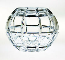 Brilliance Crystal Rose Bowl 5 Inch With Free Market III Blue Candle Sample