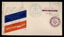 DR WHO 1944 NAVY JACKSONVILLE FL NAS-TS WWII PATRIOTIC CACHET SLOGAN  f53345