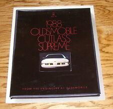 Original 1988 Oldsmobile Cutlass Supreme Deluxe Sales Brochure 88