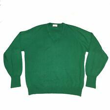 Grand Slam Munsingwear Green V Neck Golf Sweater XL St Patrick's Made In USA