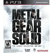 Metal Gear Solid The Legacy Collection Solus Game PS3 - Brand new!