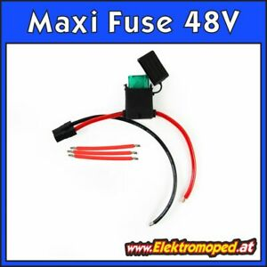 Ersatzteil Elektro-Scooter Maxi Fuse Kabelset für 48V Verkabelung Bleibatterie