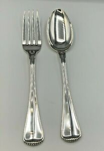 MIlano by Buccellati Sterling Silver 2 piece Serving Fork & Spoon Set 10 3/8""