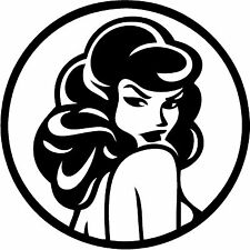 "Woman Pin Up Vinyl Decal ""Sticker"" For Car or Truck Windows, Laptops, etc"