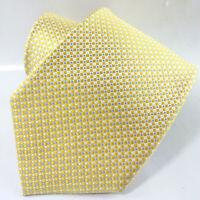 Necktie men silk tie Made in Italy Morgana brand men's tie polka dot gold & blue