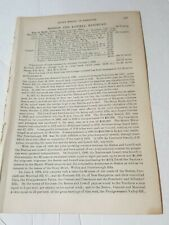 1886 train document Boston & Lowell Railroad report history leased Rr ~ 7 pages