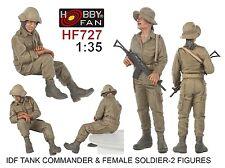 Hobby Fan 1/35 HF-727 IDF Tank Commander & Female Soldier - 2 Figures