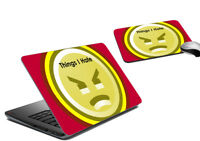 Things I Hate Laptop Skin & Mousepad Tattoo Universal Hp Decal Sticker Cover