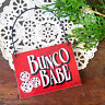 BUNCO BABE * Ornament Red Bunco Group Gifts Party Favor Mini Wood Sign USA New