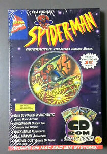 Marvel Spider-Man Interactive CD-ROM Comic Book - Toy Biz 1995 - Factory Sealed