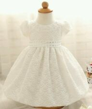 Little Baby Girl White Baptism Dress size 0-6 months