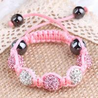 Children Jewellery Baby Kids Shamballa Bracelet 10MM Crystal Beads GIFT