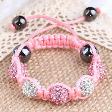 Children Jewellery Baby Kids Shamballa Bracelet 10MM Crystal Beads GIFT
