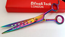 "8.5"" Titanium Pets Grooming scissors Dog Cat Scissor salon cutting hair HOLE"