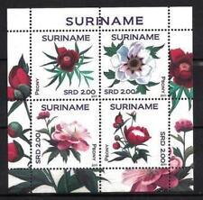 Surinam 2011 flores peonías hoja nueva 1er elección