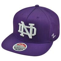 NCAA Notre Dame Fighting Irish Popsicle Zephyr Snapback Purple Flat Bill Hat Cap